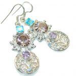 My Sweet!! Multicolor Quartz Sterling Silver earrings