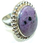 Fantastic Charoite Sterling Silver ring s. 9 1/4