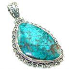Secret Blue Chrysocolla Sterling Silver pendant