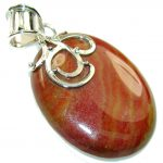 NewDesign Of Red Jasper Sterling Silver Pendant