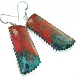 Natural Red Sonora Jasper Sterling Silver earrings