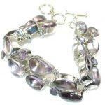Lilac Lake!! Purple Amethyst Sterling Silver Bracelet