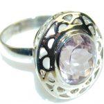 Very Light Purple Amethyst Sterling Silver ring s. 8
