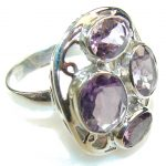 Very Delicate!! Purple Amethyst Sterling Silver Ring s. 8