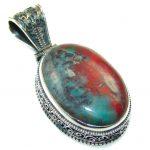 Fantastic!! Red Sonora Jasper Sterling Silver Pendant