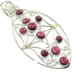 Delicate Pink Tourmaline Sterling Silver Pendant