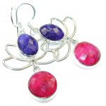 Special Secret!!! Pink Ruby Sterling Silver earrings