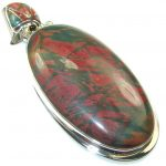 New Design!! Red Creek Jasper Sterling Silver Pendant