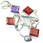Spark of Life!! Multicolor Quartz Sterling Silver Pendant