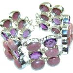 Fabulous Design!! Rhodonite Sterling Silver Bracelet