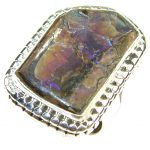 Fabulous Ammolite Sterling Silver ring s. 8