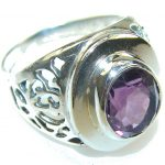 Perfect Purple Amethyst Sterling Silver ring s. 9 1/4