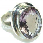 Very Light Purple Amethyst Sterling Silver ring s. 8 1/2