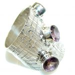 Natural Amethyst Sterling Silver ring s. 10 1/2