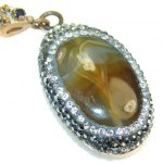 AWesome Color Of Agate Sterling Silver Pendant