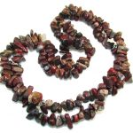 Rare Unusual Natural Red Jasper Beads Strand Necklace