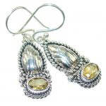 Precious! Light Citrine Sterling Silver Earrings