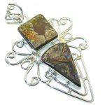 Beautiful Multicolor Ammolite Sterling Silver Pendant