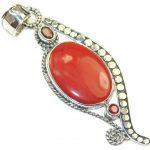 Grown Jewel!! Red Jasper Sterling Silver Pendant