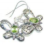 Awesome Green Peridot Quartz Sterling Silver earrings