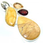 Awesome Burro Creek Jasper Sterling Silver Pendant