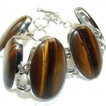 Awesome Personality!! Tigers Eye Sterling Silver Bracelet