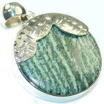Green Island!! Russian Seraphinite Sterling Silver Pendant