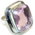 Norwegian Pink Fiord Sterling Silver Ring s. 8 1/4