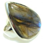 Blue Dreamer! Labradorite Sterling Silver ring s. 7 1/4