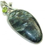 Green Island! Russian Seraphinite Sterling Silver Pendant