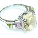 Exclusive Citrine Sterling Silver Ring s. 5 3/4