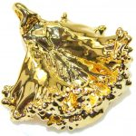 Precious Golden Leaf Sterling Silver Pendant