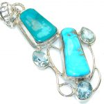 Stylish Multicolor Turquoise Sterling Silver Pendant