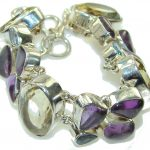 Natural Beauty!! Multigem Sterling Silver Bracelet