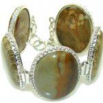 Amazing Design!! Wild Horse Jasper Sterling Silver Bracelet