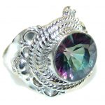 Exotic Style Of Magic Topaz Sterling Silver ring; s. 8