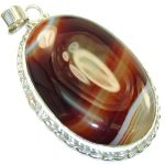 Traditions Botswana Agate Sterling Silver Pendant
