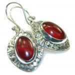Fantastic Brown Carnelian Sterling Silver earrings