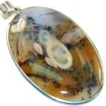 Outstanding Natural Pattern Scentic Agate Sterling Silver Pendant