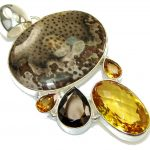 Aura Of Beauty Brown Shell Sterling Silver Pendant