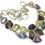Aura Of Beauty!! Multigems Sterling Silver Necklace