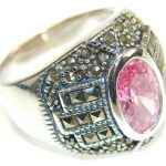 Sweet 16!! Pink Topaz Sterling Silver ring; size 8