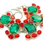 Beautiful Style Created Chrome Diopside Sterling Silver Bracelet