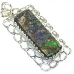 Natural Beauty!! Ammolite Sterling Silver Pendant