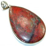 Large! Traditons Red Sonora Jasper Sterling Silver Pendant