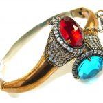 Turkish Style!! Swiss Blue Topaz Quartz Sterling Silver Bracelet