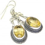 Tuscan Sun! Yellow Citrine Silver Sterling earrings