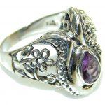 Stylish Purple Amethyst Sterling Silver ring s. 10 1/2