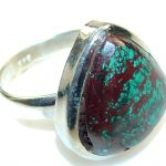Simple Delight!! Red Sonora Jasper Sterling Silver ring s. 11 1/4