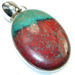 Just Perfect!! Red Sonora Jasper Sterling Silver Pendant